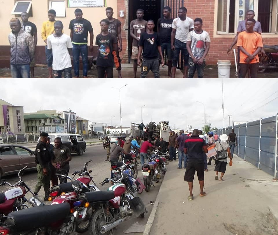 21 miscreants and suspected cultists arrested in Lagos (photos), All9ja