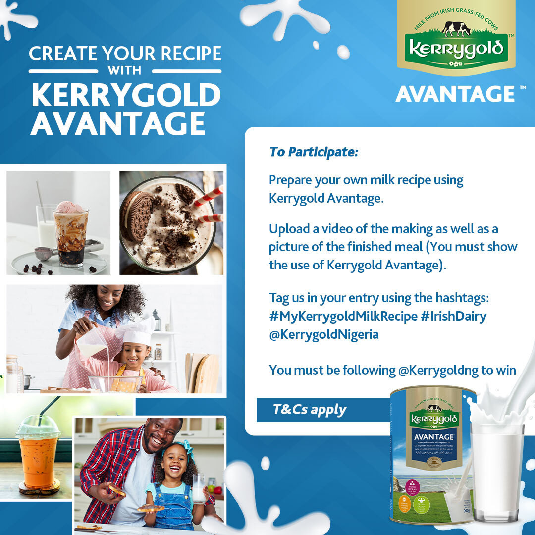 , #MyKerryGoldMilkRecipe: Nollywood stars Chioma Akpotha & Ufuoma McDermott jump on the Kerrygold Milk Challenge, All9ja, All9ja