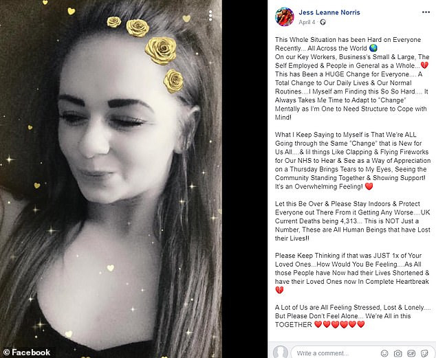British pole dancing champion, Jess Leanne Norris dies suddenly at 27 after posting that she was finding the lockdown 'so hard', All9ja