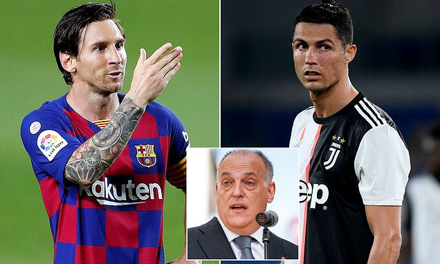Ronaldo's departure from Real Madrid had almost no impact, but losing Messi from Barcelona will have a knock-on effect – LaLiga chief Javier Tebas says, All9ja