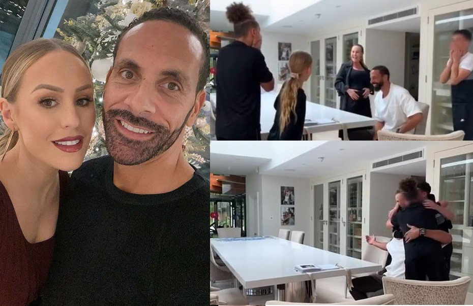 Rio Ferdinand and Kate announce they are expecting first child together with sweet family video