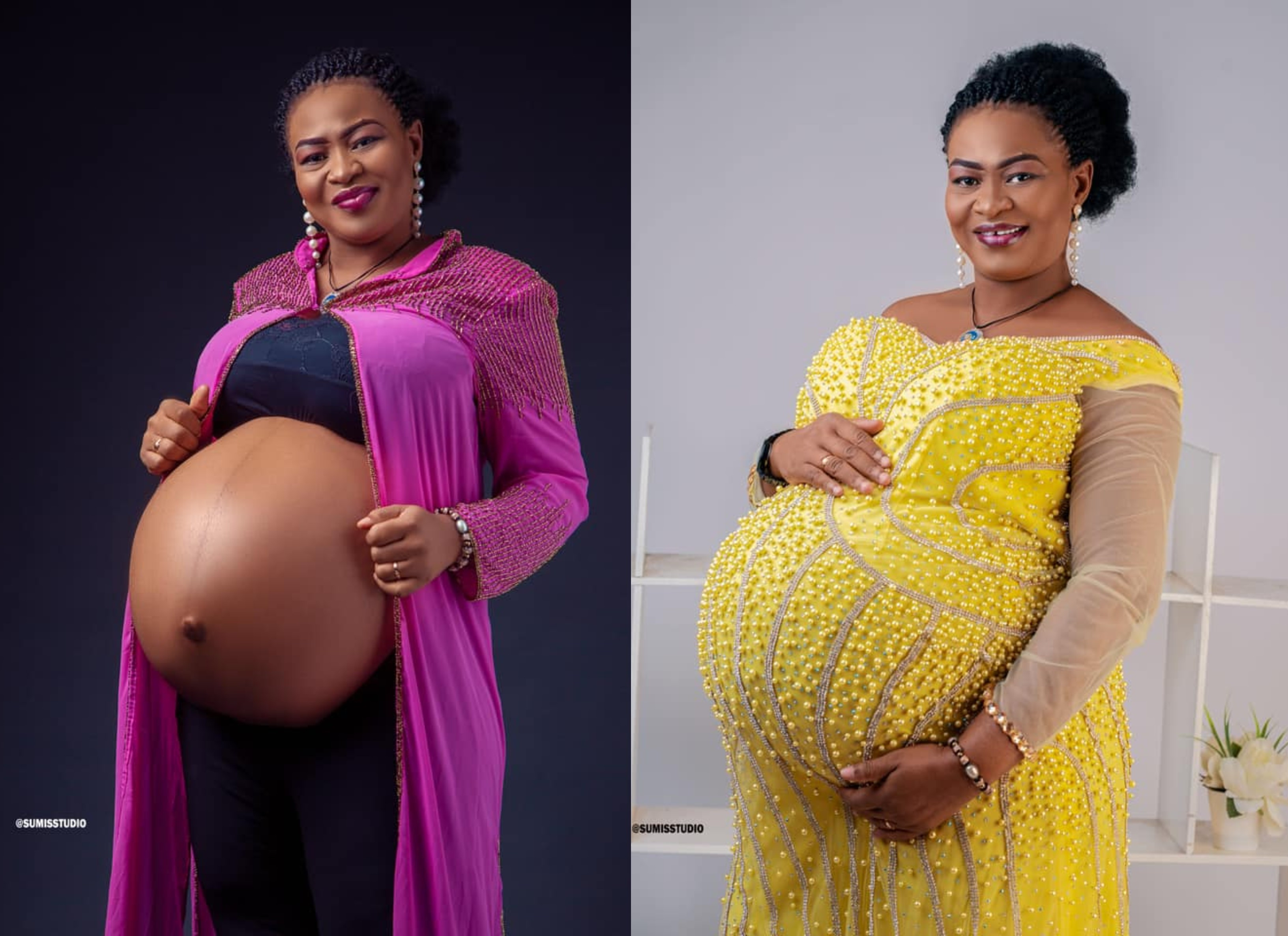 Nigerian lady welcomes triplets after 14 years of marriage lindaikejisblog