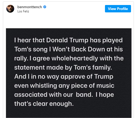 His song is not for a campaign of hate - Tom Petty's family says as it issues cease and desist order to Trump campaign lindaikejisblog 1