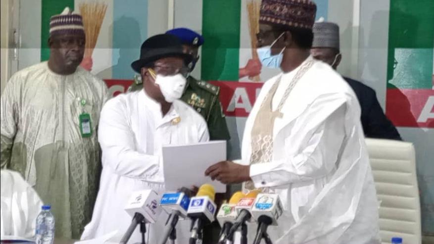 Giadom hands over leadership of APC to Governor Buni lindaikejisblog