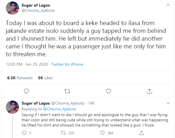 Nigerian lady recounts how she was almost kidnapped in Lagos lindaikejisblog 1