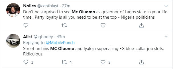 Nigerians react to Tinubus daughter, MC Oluomo being part of the committee to supervise FG's recruitment lindaikejisblog 2
