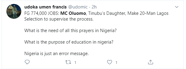 Nigerians react to Tinubus daughter, MC Oluomo being part of the committee to supervise FG's recruitment lindaikejisblog 3