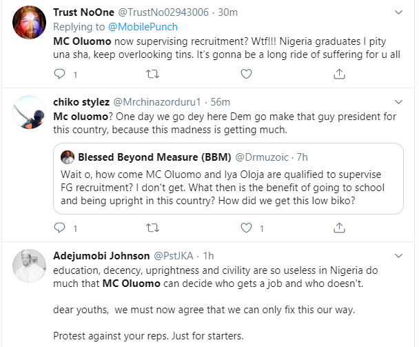 Nigerians react to Tinubus daughter, MC Oluomo being part of the committee to supervise FG's recruitment lindaikejisblogNigerians react to Tinubus daughter, MC Oluomo being part of the committee to supervise FG's recruitment lindaikejisblog 4