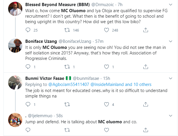 Nigerians react to Tinubus daughter, MC Oluomo being part of the committee to supervise FG's recruitment lindaikejisblog 5