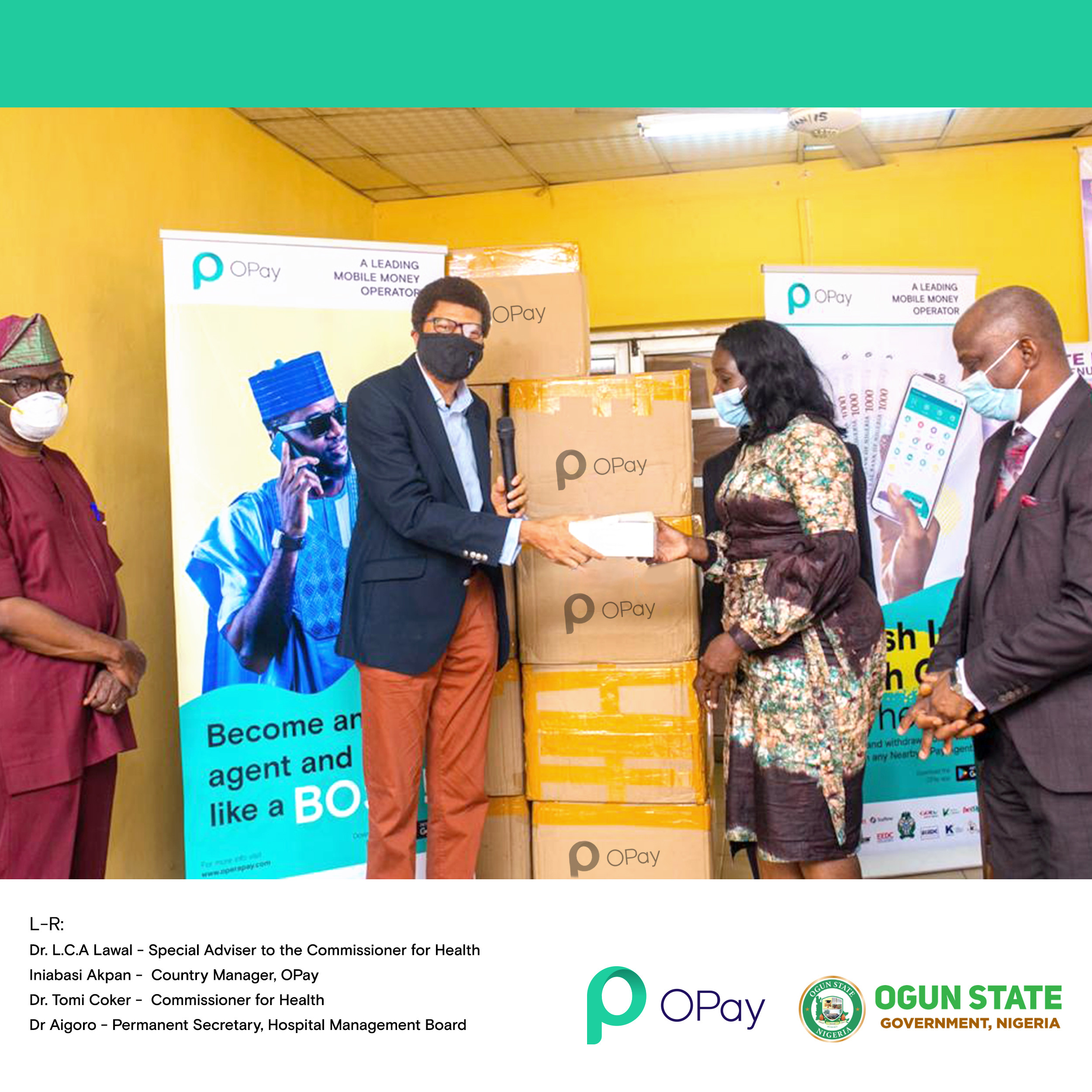 , OPay Donates 300,000 Face Masks To Support Fight Against Spread of COVID-19 In Nigeria, All9ja, All9ja