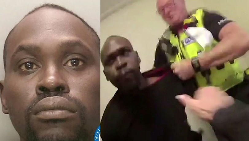 Update: Nigerian man who spat blood into policewoman's eyes during his arrest in the UK, has been jailed for eight months