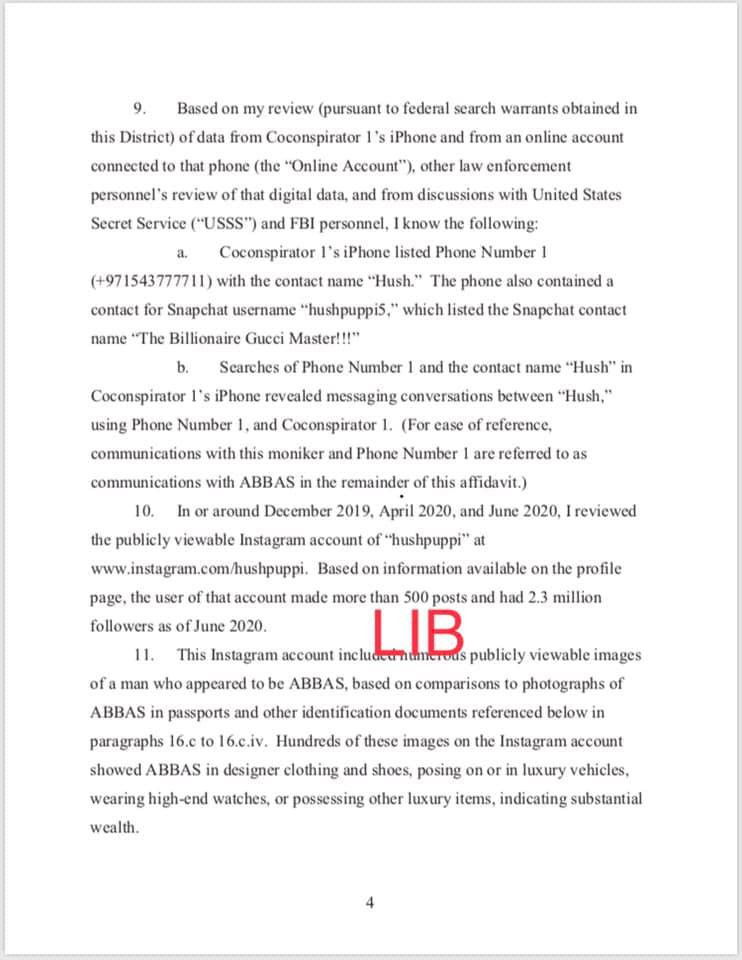 Hushpuppi and co-conspirators accused of stealing over $16m. See charge sheet which captured detailed conversation with his alleged gang members after each hit lindaikejisblog 6