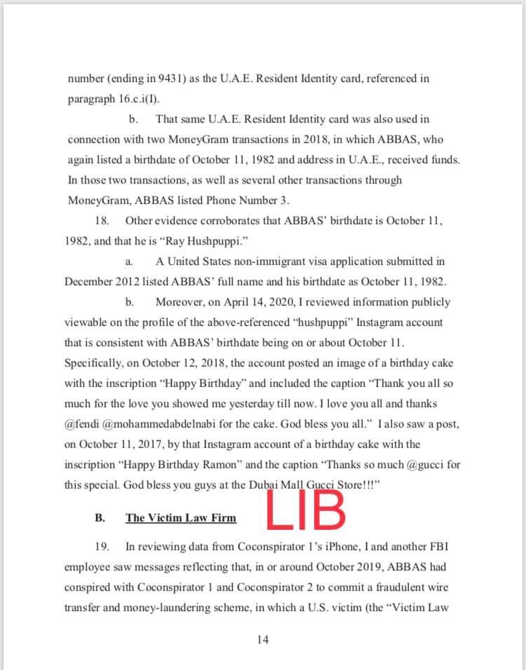 Hushpuppi and co-conspirators accused of stealing over $16m. See charge sheet which captured detailed conversation with his alleged gang members after each hit lindaikejisblog 16