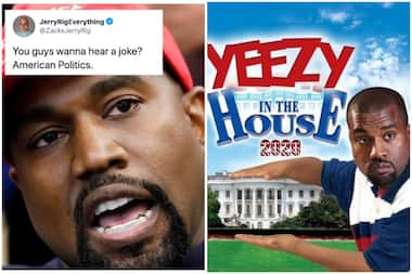 """""""If Kayne wins, we will have 2 first ladies in a row that did p*rn."""" See social Media reactions to Kanye West's 2020 presidential bid announcement"""
