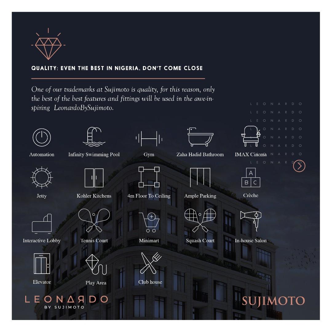 With Just N60million Naira: 3 Fundamental Reasons Why You Should Buy Into The LeonardoBySujimoto lindaikejisblog2