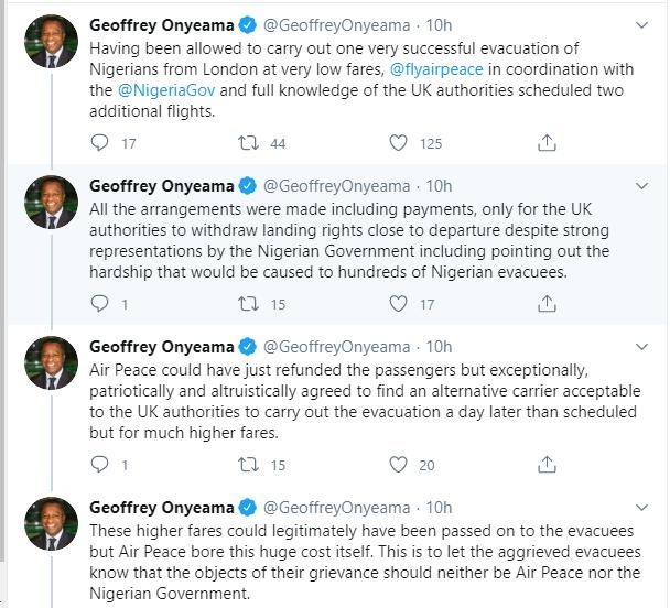 UK denies Air Peace landing rights to evacuate stranded Nigerians lindaikejisblog 1
