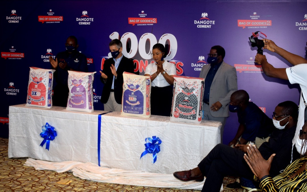 Dangote Cement Plc launches the second season of her 'Dangote Bag of Goodies' national consumer promotion
