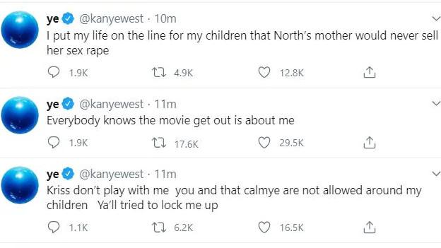 Kanye West rants on Twitter, calls out Kim Kardashian and Kris Jenner lindaikejisblog 1