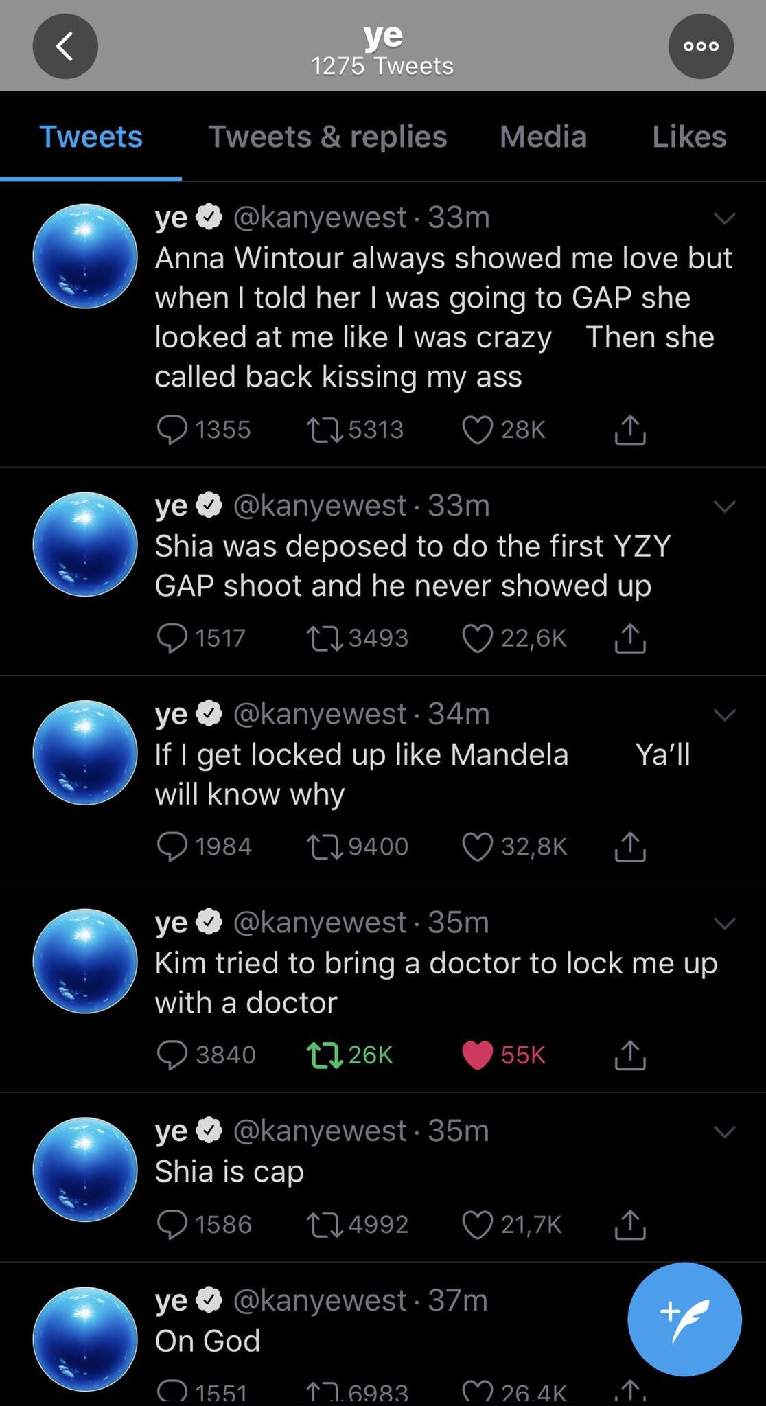 Kanye West rants on Twitter, calls out Kim Kardashian and Kris Jenner lindaikejisblog 5