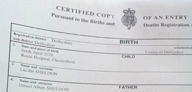 Couple win battle to name their son 'Lucifer' lindaikejisblog 1