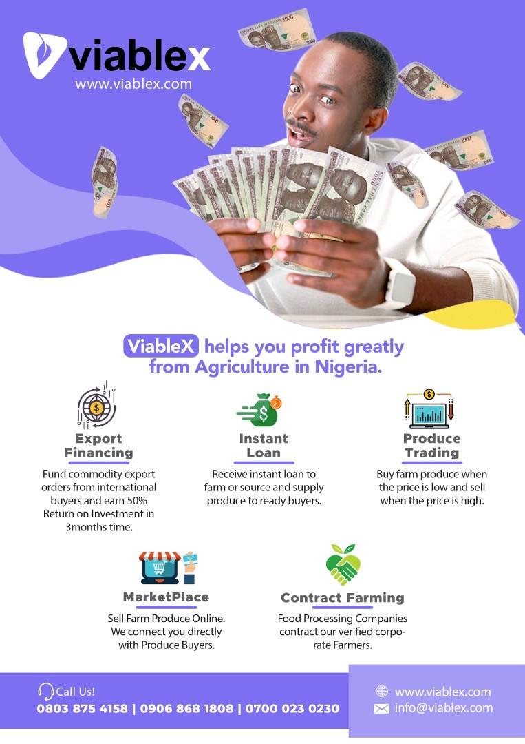 Adama J Adama is using Viable X to raise millionaires through agriculture lindaikejisblog