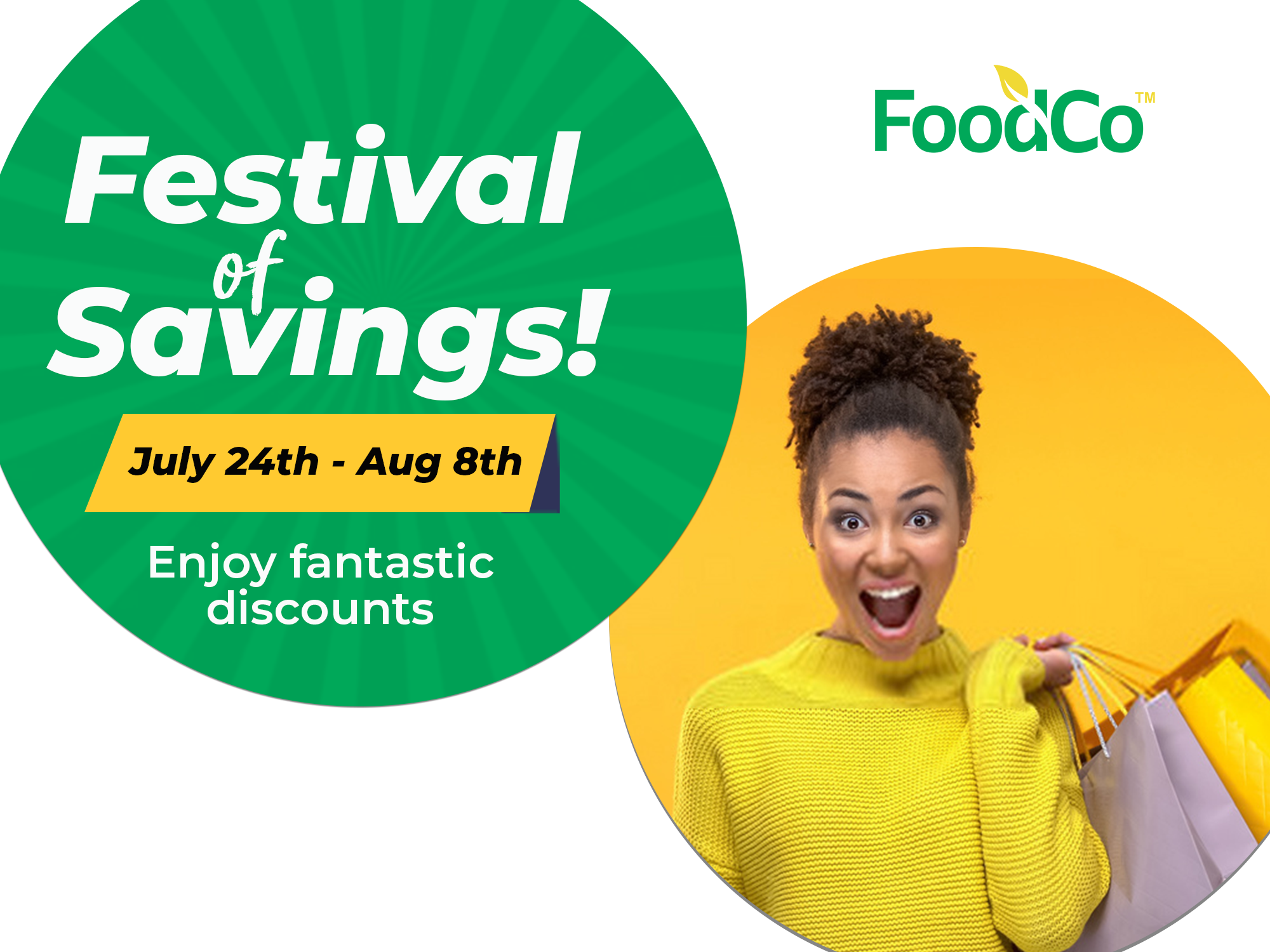 Get 16 Days of Discounts in FoodCos Festival of Savings