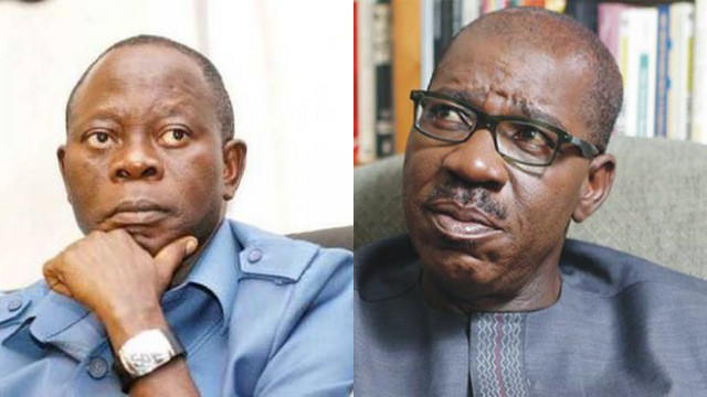 Obaseki is not a threat because he is not even eligible to contest elections - Oshiomhole lindaikejisblog