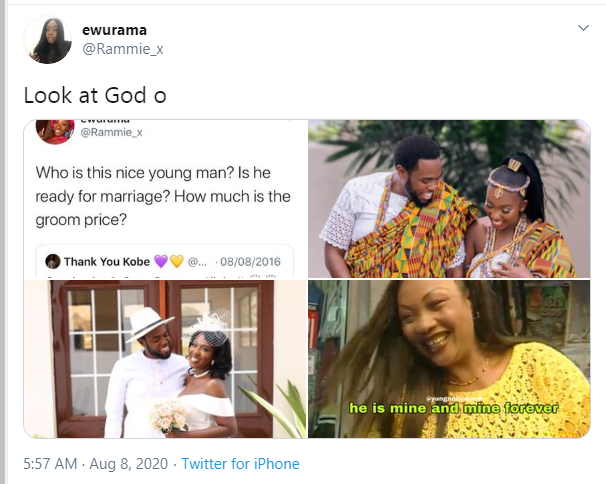 Twitter users marry 4 years after the lady opted to pay the man's groom price lindaikejisblog  2