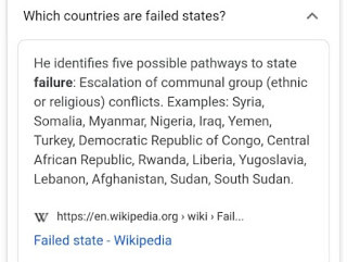 Nigeria added to Wikipedia's list of failed states lindaikejisblog