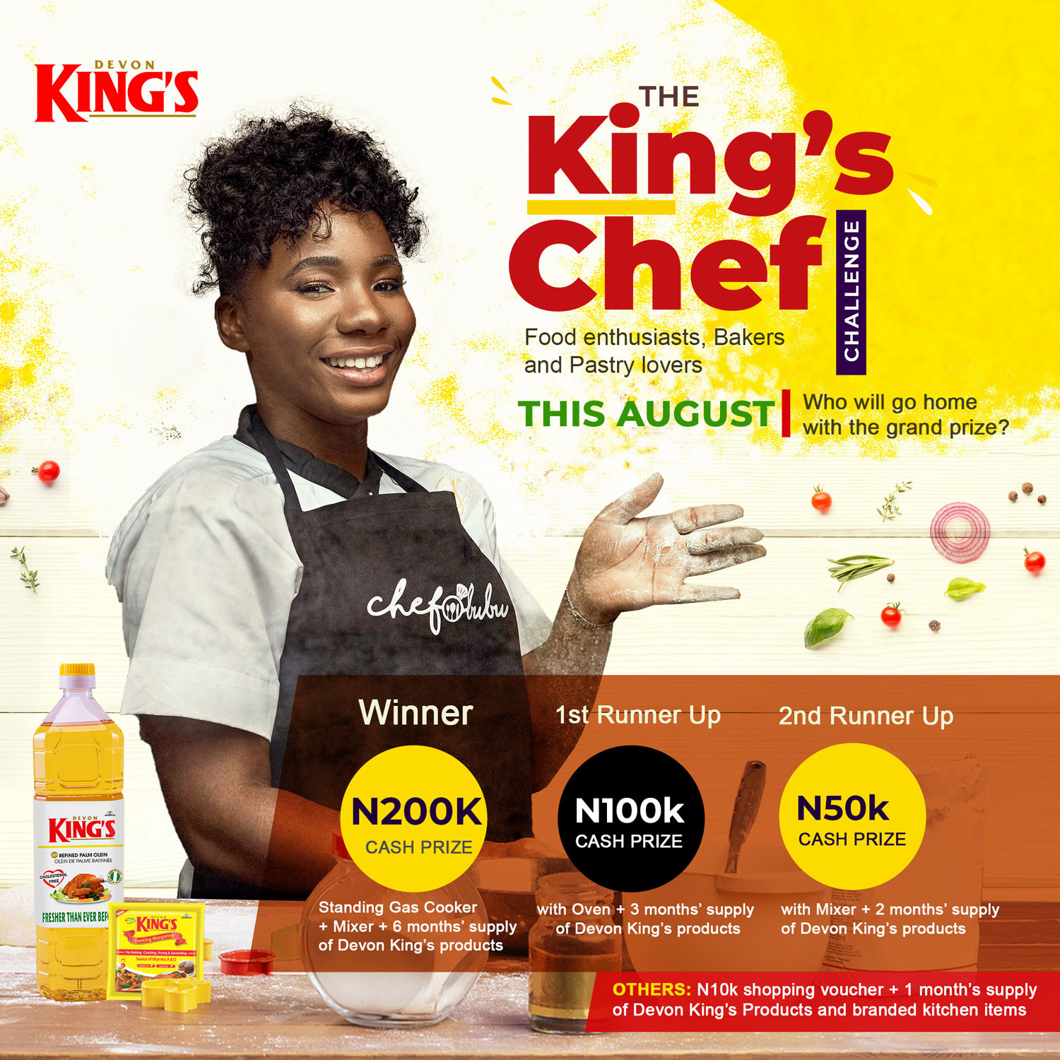Up to 1 million naira worth prizes up for grabs in the Devon Kings #TheKingsChef challenge!