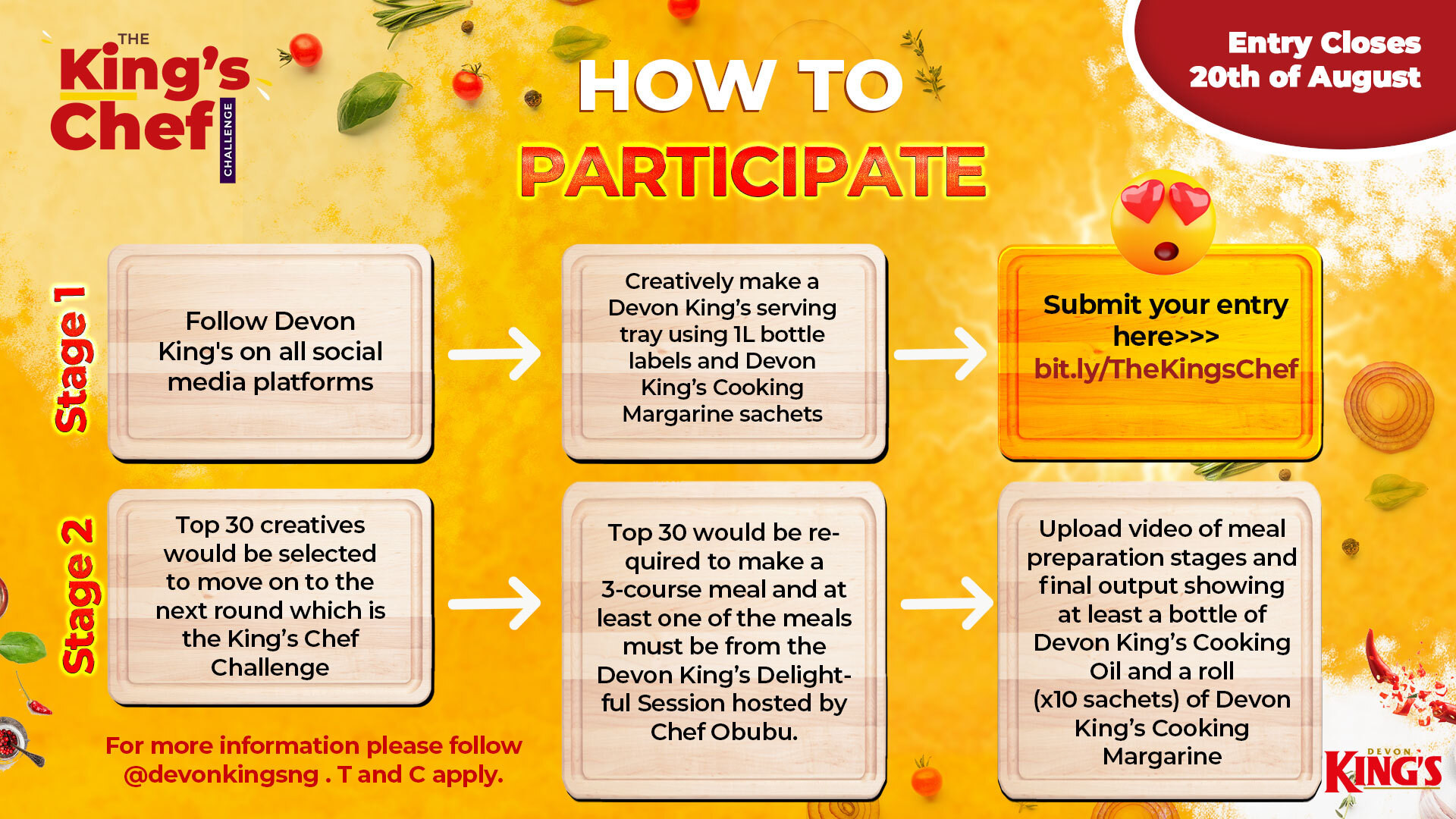 Up to 1 million naira worth prizes up for grabs in the Devon Kings #TheKingsChef challenge lindaikejisblog2