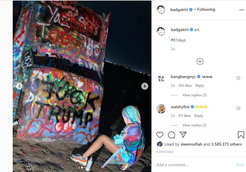 Melania likes art - Rihanna mocks Trump over wife's refusal to hold his hands lindaikejisblog 1