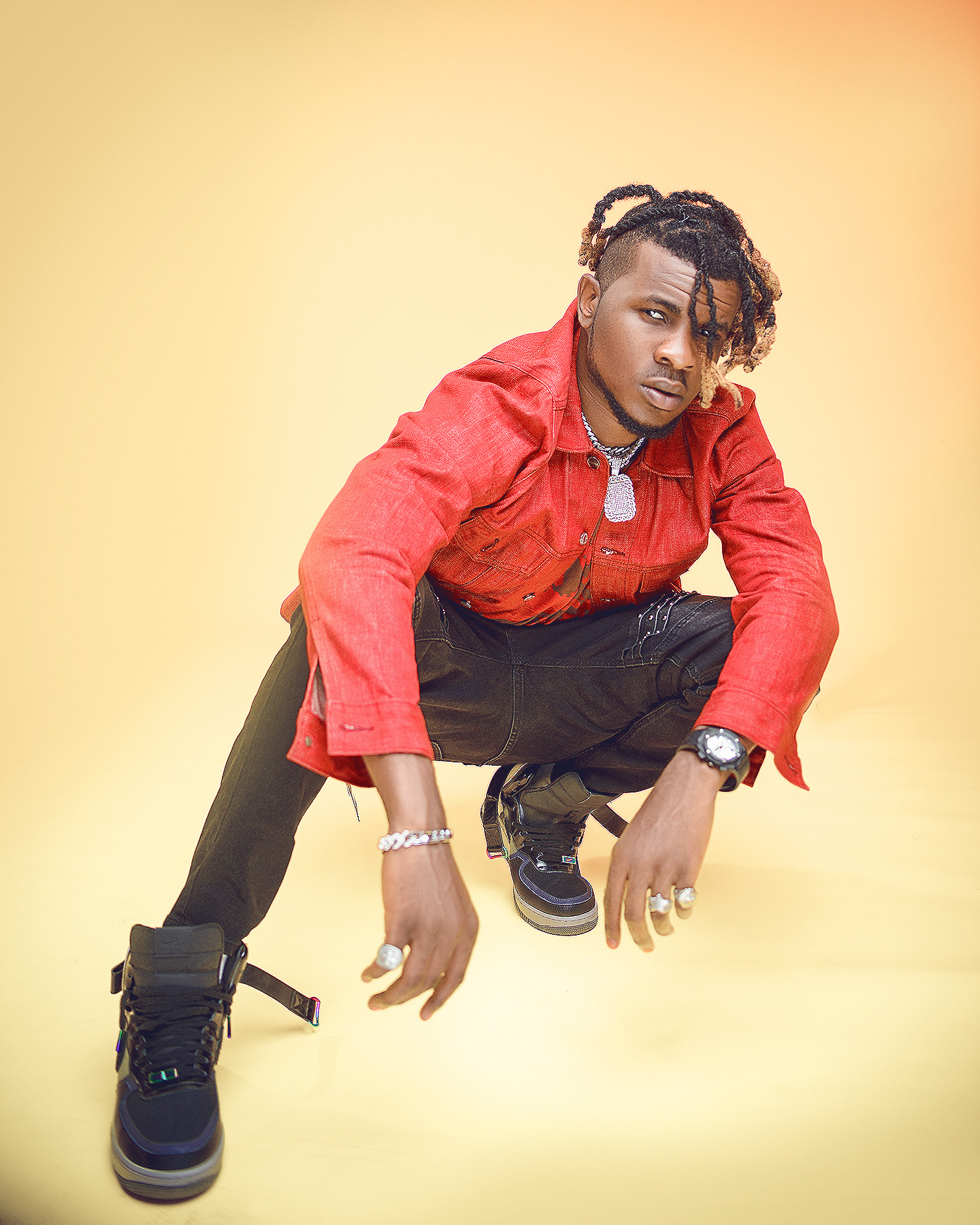 Original Fireboy NEDRO Returns Releases Some Exclusive Fresh Studio Promotional Pictures