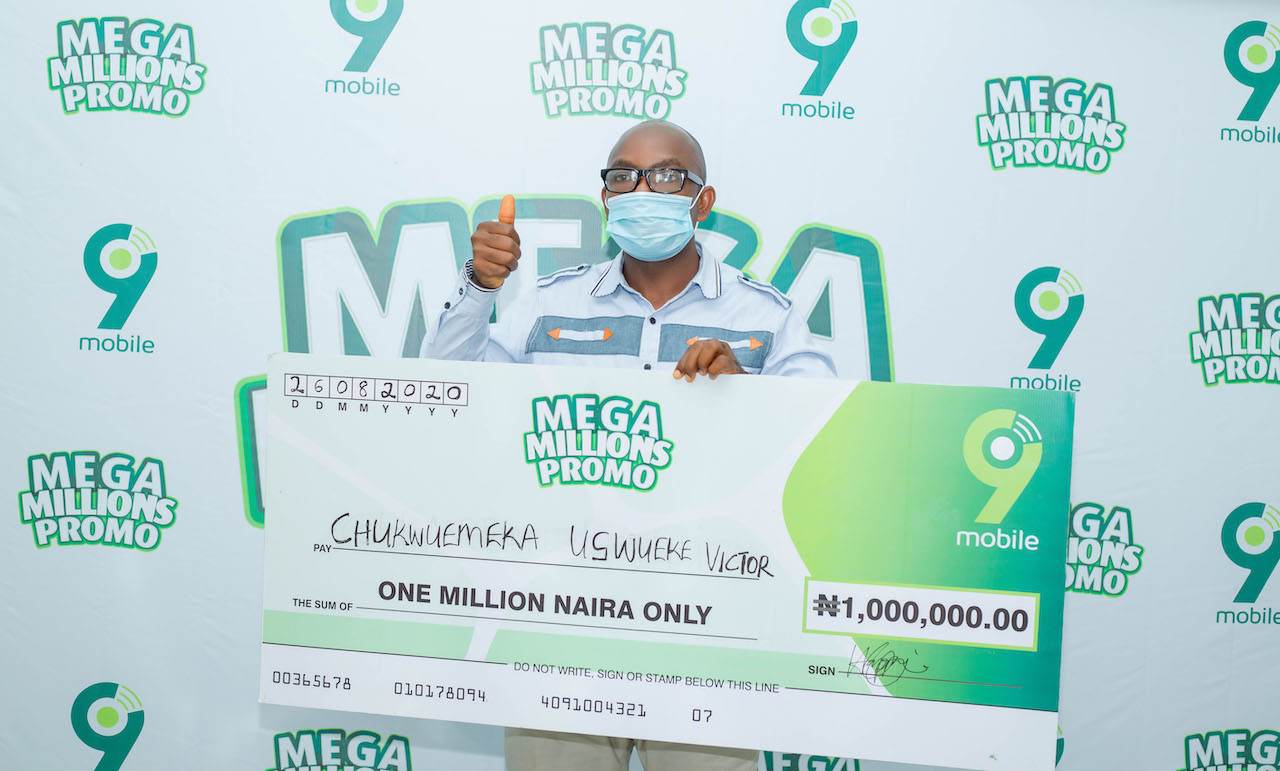 9mobile Mega Millions Promo Enugu winner to start a masters degree with prize money