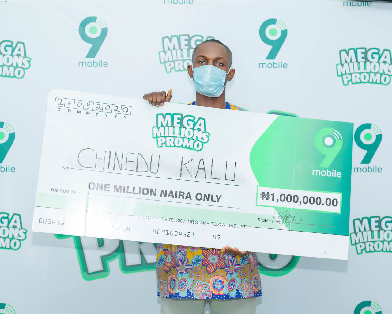9mobile Mega Millions Promo Enugu winner to start a masters degree with prize money lindaikejisblog3