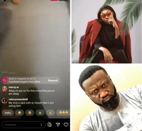 Cynthia Morgan goes on IG live to demand for her money from Jude Okoye lindaikejisblog
