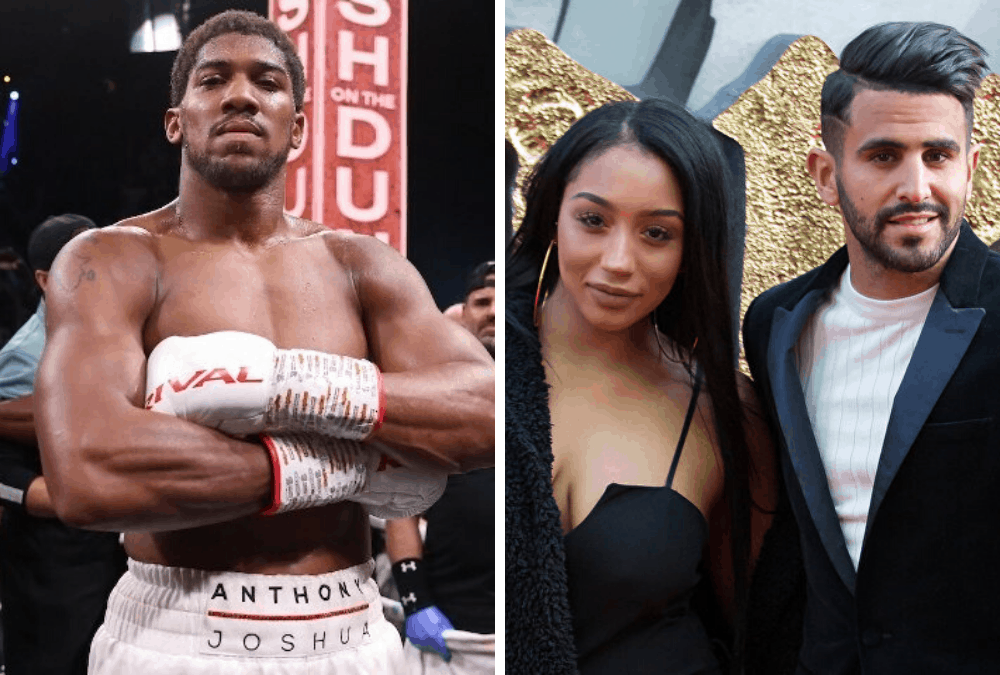 Anthony Joshua denies dating wife Manchester City star Riyad Mahrez 'following allegations the pair were seen on a night out together'