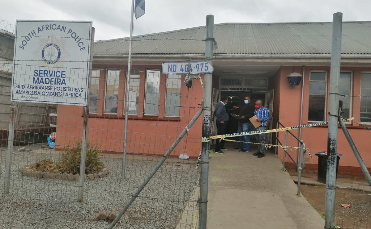 Woman shot dead by abusive husband in South African police station lindaikejisblog