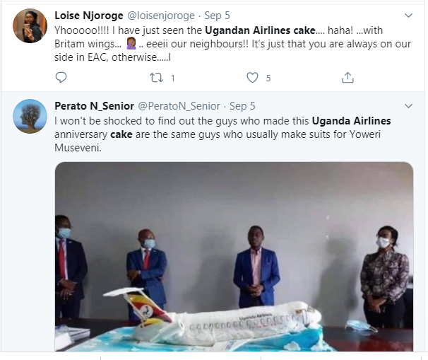 Ugandan Airlines anniversary cake which looks like a 'crashed airplane' leaves Twitter users in stitches lindaikejisblog 3