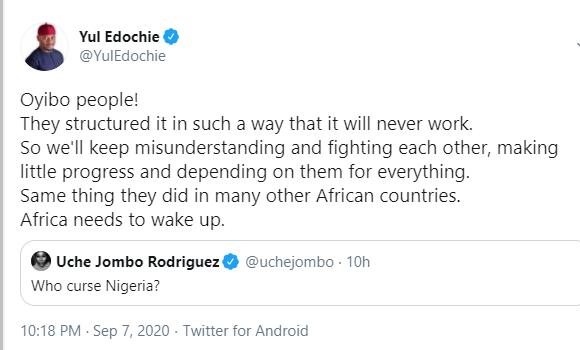 'Oyibo people' cursed Nigeria - Yul Edochie lindaikejisblog 1