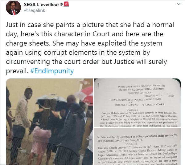 Doctor who fled UK after accusing Twitter influencer, Dr Olufunmilayo of rape arraigned lindaikejisblog