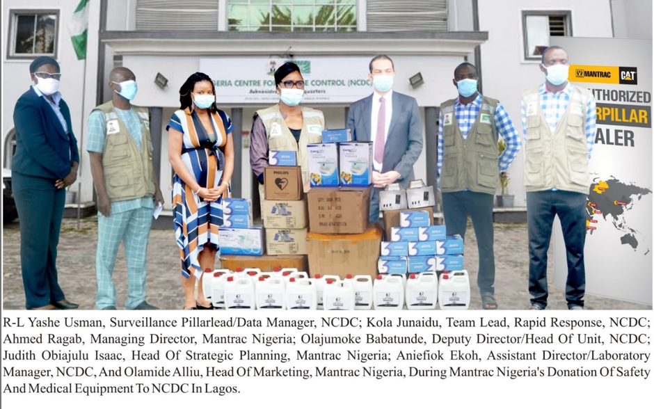 COVID-19: NCDC & States applaud Mantrac Nigeria for donating Medical equipment, Test kits and PPEs lindaikejisblog