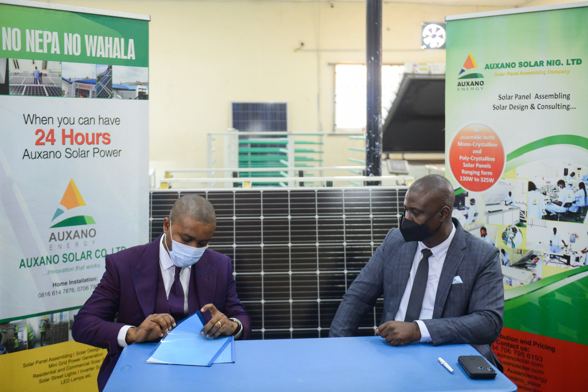 All On and Auxano Solar Nigeria Sign $1.5m Investment Deal for Solar Panel Assembly Plant Expansion lindaikejisblog1