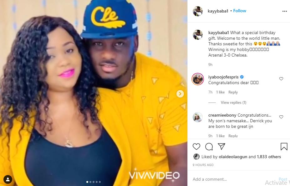 Actor Kayode Akinbayo welcomes a baby boy with his wife lindaikejisblog 1