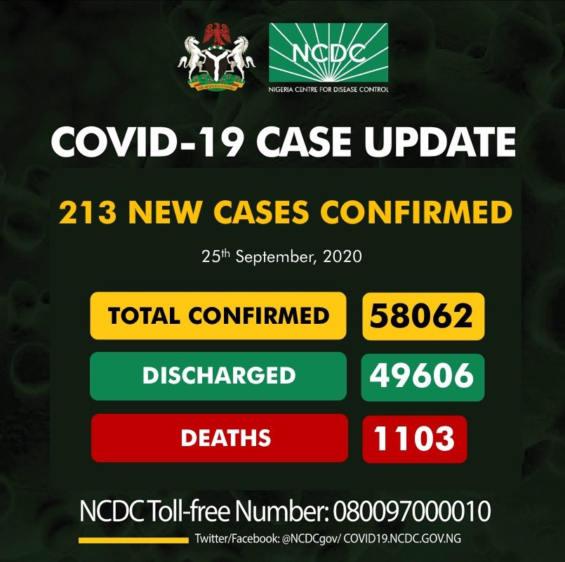 213 new cases of Coronavirus recorded in Nigeria lindaikejisblog