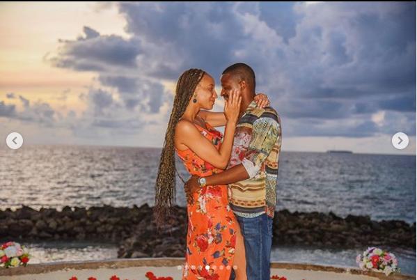 Media personality, Laila Johnson-Salami engaged to boyfriend Abasam lindaikejisblog 5