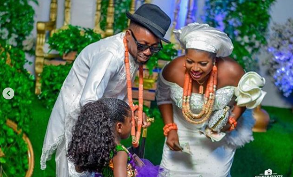Rapper Erigga and fiancee, Morenike hold their traditional marriage in Delta state lindaikejisblog
