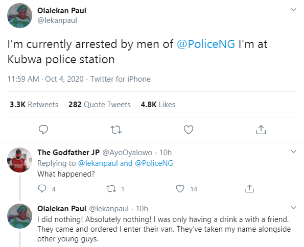 Former SARS supporter called out after crying out for help after being arrested by the police lindaikejisblog 1