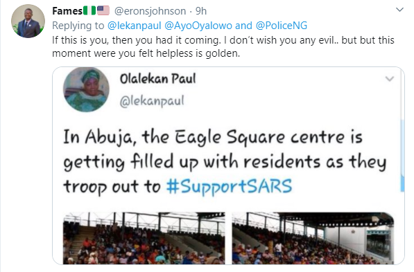Former SARS supporter called out after crying out for help after being arrested by the police lindaikejisblog 3