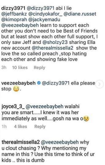 BBNaija's Venita Akpofure and Ella clash on Instagram lindaikejisblog 2